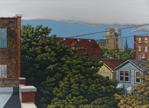 "Emmett Kerrigan, ""Racine SW,"" 2013, oil on canvas, 71"" x 51"""