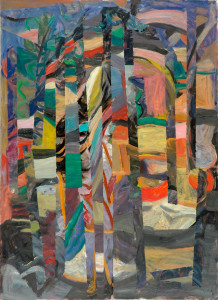 "William Eckhardt Kohler, Hiker at Night, 2014, oil on canvas, 44"" x 37"""