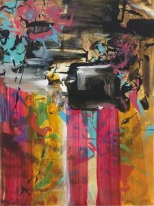 """Kim Piotrowski, Sunday Special, 2014, acrylic ink on panel, 12"""" x 9"""""""