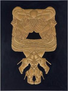 """Paula Henderson, """"Appearances VI,"""" 2011, oil and wax on canvas, 48"""" x 36"""""""